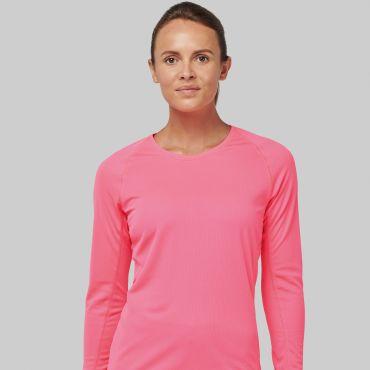 Camiseta deportiva manga larga mujer PA444 Proact