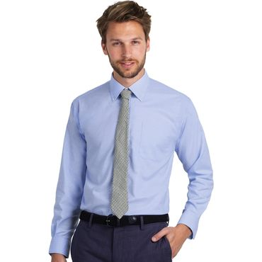 Camisa oxford hombre OXFORD LSL B&C