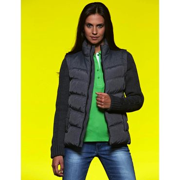 Chaqueta con mangas desmontables mujer JN1067 KNITTED James Nicholson