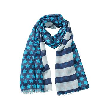 Pashmina 180x110 cm MB6629 STRIPES-STARS Myrtle Beach