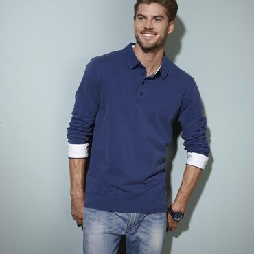 Polo pique de manga larga hombre JN714 LONG James Nicholson