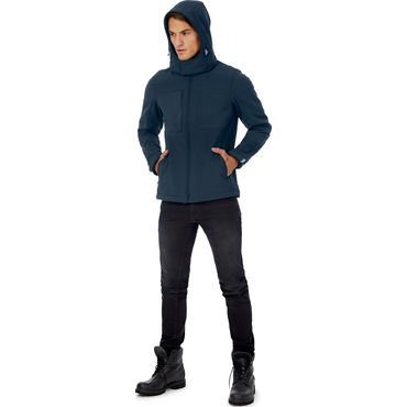 Softshell con capucha hombre HOODED SOFTSHELL MEN B&C
