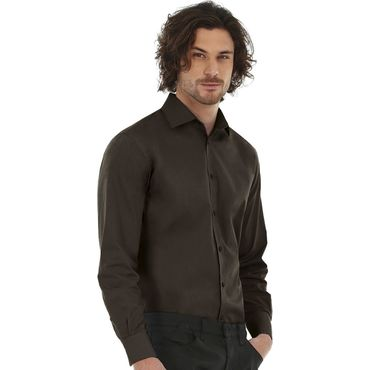 Camisa stretch ajustada hombre BLACK TIE LSL MEN B&C
