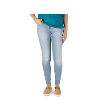 Vaqueros Push-Up blue bleach mujer CARLY CAPITAN DENIM - WATUSI