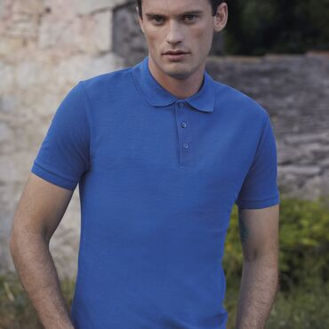 Polo piqué hombre 63-042-0 65/35 TAILOR FIT FRUIT OF THE LOOM