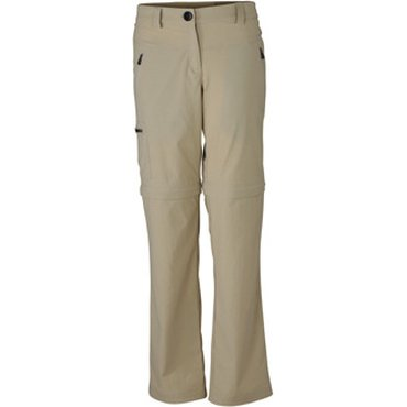 Pantalón treking largo desmontable mujer JN582 ZIP-OFF James Nicholson