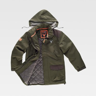 Parka outdoor acolchada con capucha hombre HUNTERTEAM WORKTEAM