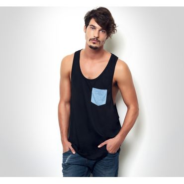 Camiseta de tirantes con bolsillo decorativo sublimable hombre TABU POCKET NATH