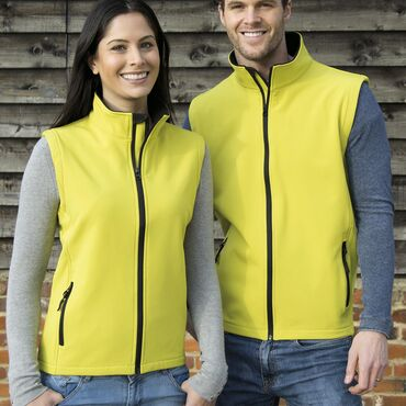 Chaleco softshell mujer R232F PRINTABLE RESULT CORE