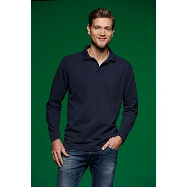 Polo pique manga larga hombre JN022 LONG James Nicholson