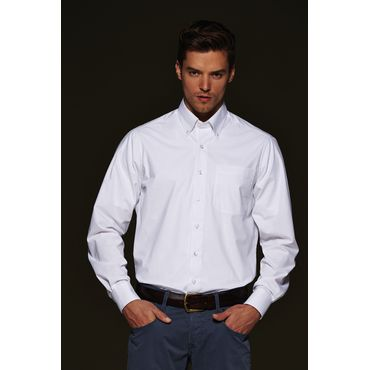 Camisa lisa manga larga sin plancha hombre JN625 BUTTON DOWN James Nicholson