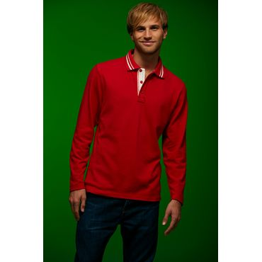 Polo pique manga larga hombre JN968 LONG James Nicholson