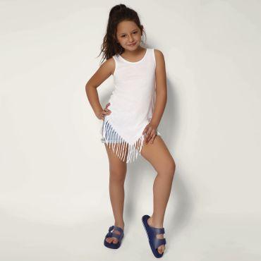 Vestido largo de tirantes niño POCAHONTAS NATH