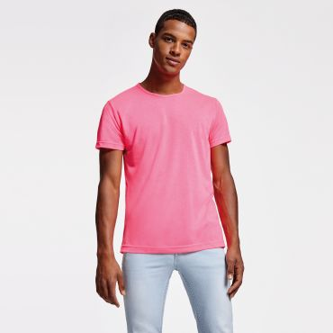 Camiseta básica barata flúor hombre AKITA ROLY