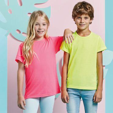 Camiseta básica barata flúor niño AKITA KIDS ROLY