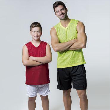 Camiseta deportiva sin mangas reversible hombre REVERSIBLE ACQUA ROYAL
