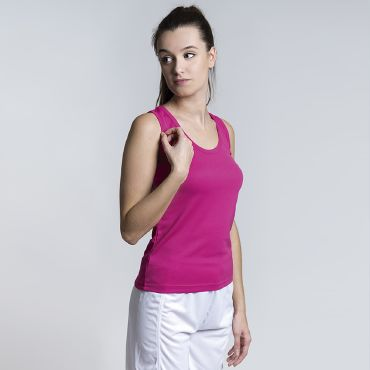 Camiseta deportiva de tirantes mujer AEROBIC ACQUA ROYAL