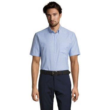 Camisa Oxford de manga corta hombre BRISBANE FIT SOL'S