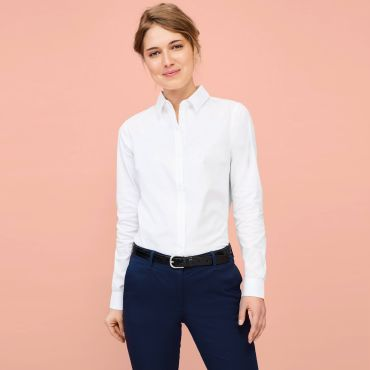 Camisa de manga larga de espiguilla mujer BRODY WOMEN SOL'S