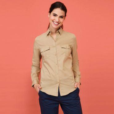 Camisa safari de manga larga mujer BURMA WOMEN SOL'S