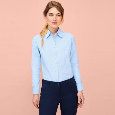 Camisa Oxford de manga larga Easycare mujer EMBASSY WOMEN SOL'S