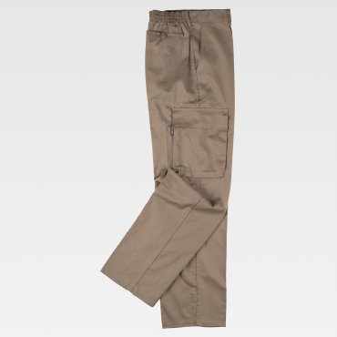 Pantalón de trabajo multibolsillos barato unisex B1403 WORKTEAM