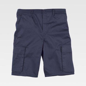 Pantalón de trabajo corto multibolsillos barato unisex B1405 WORKTEAM