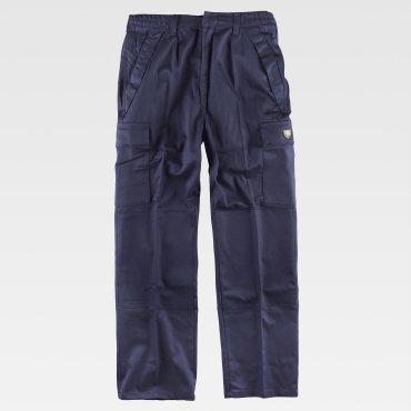 Pantalón de trabajo ignifugo multibolsillos unisex B1490 WORKTEAM