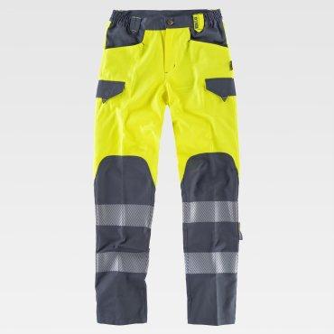 Pantalón de alta visibilidad multibolsillos unisex C2715 WORKTEAM
