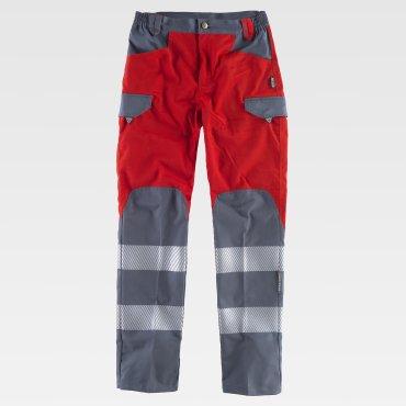 Pantalón de alta visibilidad multibolsillos unisex C2716 WORKTEAM