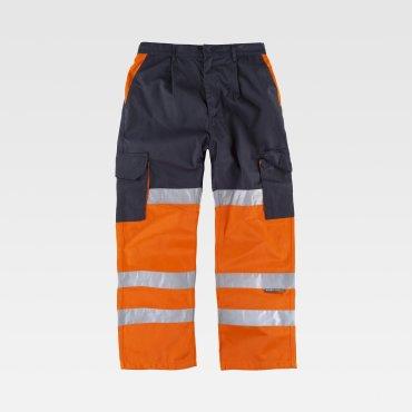 Pantalón de alta visibilidad multibolsillos unisex C3214 WORKTEAM