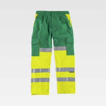 Pantalón de alta visibilidad multibolsillos unisex DANE WORKTEAM