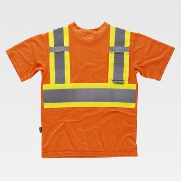 Camiseta laboral de alta visibilidad unisex C3645 WORKTEAM