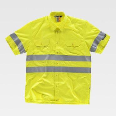 Camisa de trabajo de alta visibilidad manga corta unisex ANDY WORKTEAM