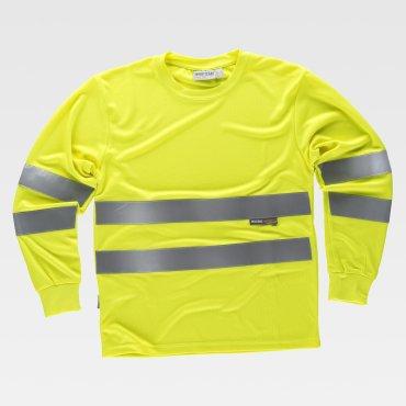 Camiseta laboral de alta visibilidad manga larga unisex EVERETT WORKTEAM