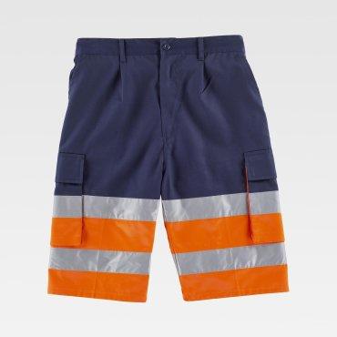 Pantalón de trabajo corto de alta visibilidad multibolsillos unisex VICTORIANO WORKTEAM