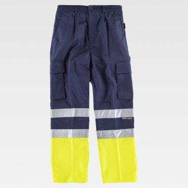 Pantalón de alta visibilidad multibolsillos unisex DAMON WORKTEAM