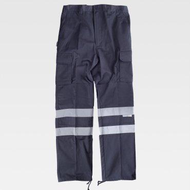 Pantalón de alta visibilidad multibolsillos unisex C4016 WORKTEAM