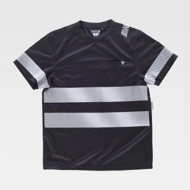 Camiseta laboral de alta visibilidad con bolsillo unisex C9243 WORKTEAM