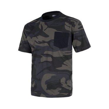 Camiseta camuflaje con bolsillo unisex S8520 WORKTEAM