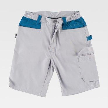Pantalón de trabajo corto multibolsillos combinado unisex RANDOLFO WORKTEAM