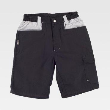 Pantalón de trabajo corto multibolsillos combinado unisex WF1017 WORKTEAM