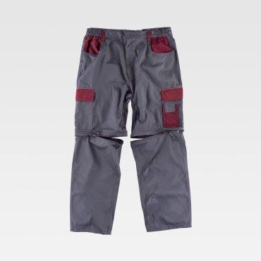 Pantalón de trabajo desmontable multibolsillos unisex WF1850 WORKTEAM
