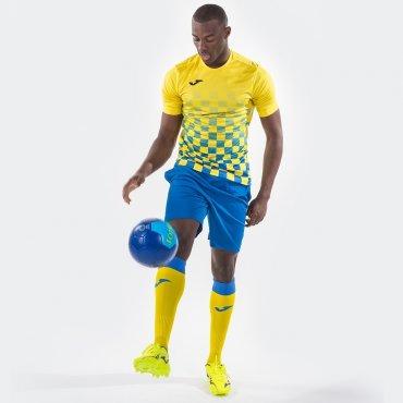 Camiseta de fútbol a cuadros hombre-niño FLAG JOMA SPORT