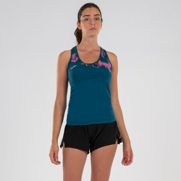 Camiseta running de tirantes mujer RACÓ AZUL WOMAN JOMA SPORT