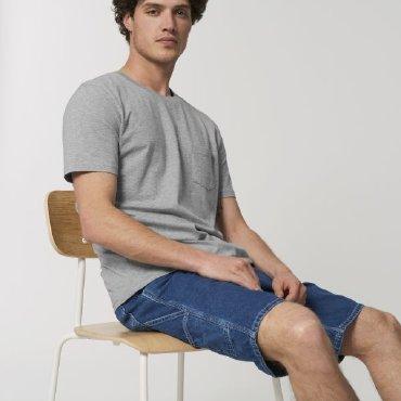 Camiseta con bolsillo orgánica unisex CREATOR POCKET STANLEYSTELLA