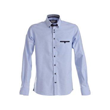 Camisa Oxford de manga larga hombre PURPLE BOW 40 SLIM HARVEST & FROST