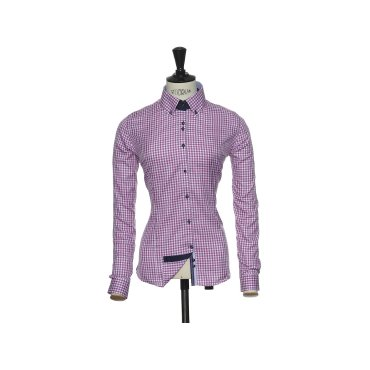 Camisa de cuadros gingham de manga larga mujer PURPLE BOW 41 WOMAN HARVEST & FROST