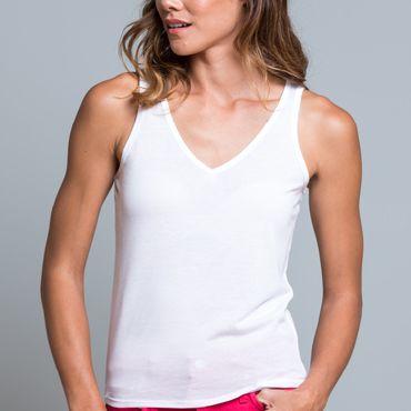 Camiseta de tirantes para sublimar mujer SUBLI V-NECK TOP JHK T-SHIRT