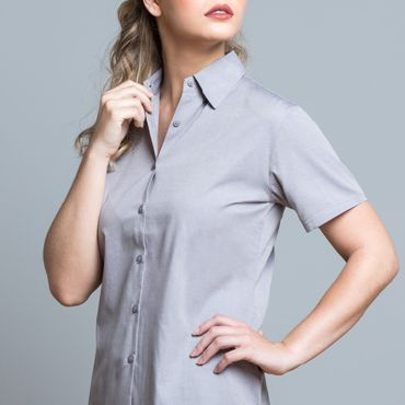 Camisa oxford de manga corta mujer CASUAL & BUSINESS JHK T-SHIRT
